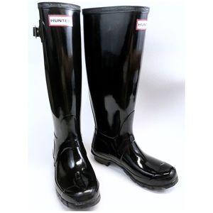 HUNTER Womens Original Tall Gloss Rain Boots Sz. 6